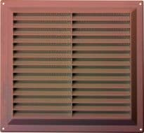 "Map Brown Louvred Vent (with Fixed Flyscreen) - Opening Size: 9"" x 9"" - 229 x 229mm"